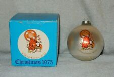 Schmid Berta Hummel 1975 Christmas Child Glass Ornament in Box 2nd Series