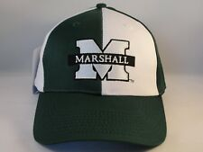 d7db7d85077 Marshall Thundering Herd NCAA Vintage Adjustable Strap Cap Hat Green White