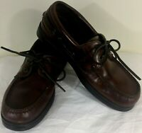 Sperry Top-Siders Brown Leather Boat Deck Casual Loafers Shoes Men's Size 7M
