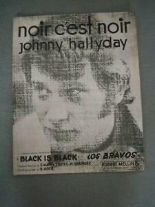 Partitions - Johnny Hallyday -  Noir c'est Noir