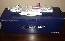 """Carnival Cruise Lines """"Pride"""" Resin Cruise Ship Model 10.5"""" New In Box"""