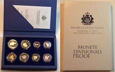 Tasso ufficiale Set di 1 cent a 2 euro 2010 San Marino PIASTRA lucide