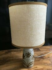 VINTAGE  POTTERY TABLE LAMP AND SHADE