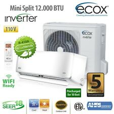 MINI SPLIT 12000 BTU R410 COOLING / HEATING 110V/60HZ/1PH INVERTER SEER 17.2