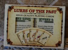 FISHING LURES OF THE PAST TWO DECK PLAYING CARDS SET~FEATURES 54 ANTIQUE LURES!