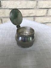 Pottery Barn Single Tea Light holder Silver Tone with Lid