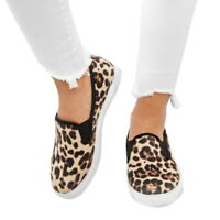 Women Leopard Printed Flat Shoes Round Casual Slip-on Shoes  Comfy