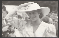 POSTCARD Royalty PRINCESS DIANA at TIDWORTH, HAMPSHIRE 29/07/87