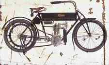 Curtiss Single 1908 Aged Vintage Schild a4 Retro
