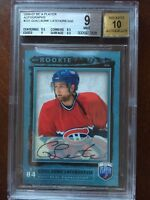 2006-07 BE A PLAYER GUILLAUME LATENDRESSE ROOKIE AUTOGRAPH BGS 9 AUTO 10