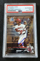 Jo Adell Los Angeles Angels SIGNED 2017 BOWMAN CHROME Auto + PSA CERTIFIED COA!