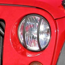Jeep Wrangler Jk 07-17 Black Head Light Euro Guard Pair  X 11230.03