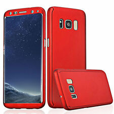 360° Full Body Protective Hybrid Case Cover +Tempered Glass For Samsung Galaxy E
