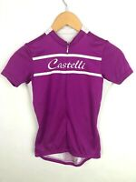 Castelli Cycling Jersey Womens XS Pink 1/4 zip Spell out