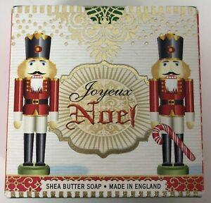 Joyeux Noel Moisturizing Shea Butter Soap Scented Made in England 3.5 Ounces NIB