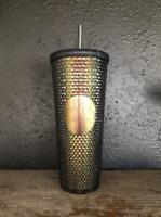 New Starbucks Black Studded Tumbler 2020 Venti 24 Ounce Cup Iridescent unicorn