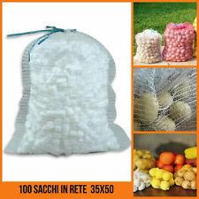 100 SACCHI Netto Arancione 55cm x 80cm//30kg Mesh Sacchi legna da bruciare i registri patate Cipolle