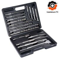 17 pcs SDS Plus Rotary Hammer Drill Chisel Set Concrete Power Tools Multi-Bit