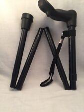 Folding Cane Walking Stick Adjustable Height RIGHT HAND Ergonomic Handle