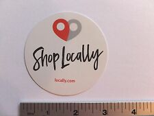 "3"" SHOP LOCALLY Small Business Bike Shop  Bike Ride Run Outdoor - STICKER DECAL"