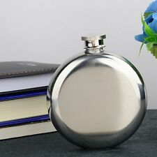 Tool 5OZ Portable Flagon Round Wine Flask Glossy Specular Flask Pocket Bottle