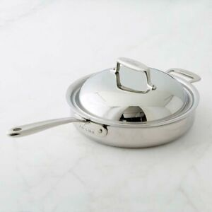 All-Clad SD755083 D7 Stainless Steel 7-Ply 3-qt Saute pan with Dome Lid.