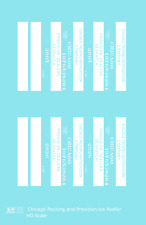 K4 HO Decals Chicago Packing and Provision Wood Ice Reefer White