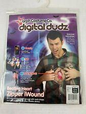 Morph Costume Co. Digital Dudz Beating Heart Zipper iWound App Halloween latex
