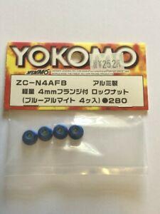 ZC-N4AFB Yokomo MR4-BX Blue Wheel Nuts