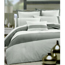 3 Pce Metropolis White Silver Embroidery Quilt Cover Set - Queen
