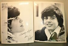 Vintage 1970s Donny Osmond Headshot Photo Pair promo very old B&W