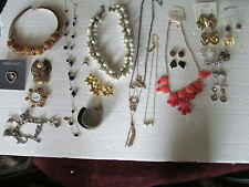 - All Marked - Must See These Fabulous Lot Of 35 Assorted Better Jewelry Pieces