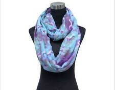 Ladies Womens Girls Fashion Scarf Turquoise Blue & Purple Unicorn Animal Print
