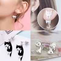 Womens Lovely Cat Fish Earrings Ear Stud Child Cartoon Jewellery Birthday Gift