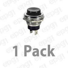 SPST (N/O) MOMENTARY ON BLACK PUSH BUTTON SWITCH 4AMPS @ 125VAC #66-2423-1PK