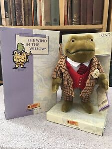Steiff - Wind in the Willows - Mr Toad - Boxed - Mohair - Antique Teddy Bear Pal