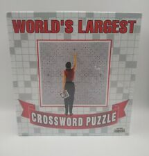 Worlds Largest Crossworld Puzzle 42 Square Foot 24,718 clues new sealed