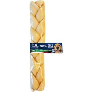 "Pet Factory 79959 Usa Beefhide Braided Stick Rawhide 12"" Inch 100% MADE IN USA"
