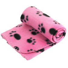 Pet Coral Fleece Soft Blanket with Paw Printed for Small Dogs and Cats.(Black)