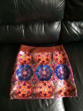 Nanette Lepore Sequined Silk Fully Lined Mini Skirt NWOT $475