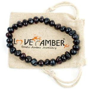 100% Genuine Certified Adult Blackforest Cherry Baltic Amber Stretch Bracelet
