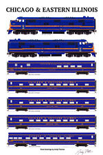 "Chicago & Eastern Illinois Whippoorwill 11""x17"" Poster by Andy Fletcher signed"
