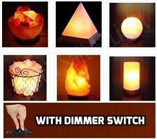 Himalayan Natural Rock Salt Lamp. Dimmer Switch. Pyramid, Fire Bowl 2,3,4,5 Kg