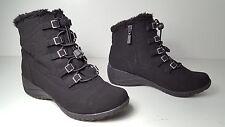 $99 size 8 Khombu Alexa Winter Black Wedge Lace Up Ankle Boots Womens Shoes