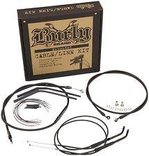 """Burly Extended Cable Line Kit 14"""" Apehanger Bars Harley Sportster 883/1200"""