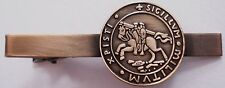 Templar Knights CrusadesTraditional Seal Crusader Masonic Tie Clip Bar
