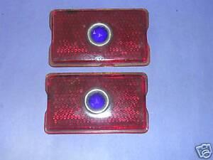NOS 1942-1947 Oldsmobile tail light lenses blue dot