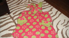CORKY & CO COMPANY 4 PINK GREEN POLKA DOT FLORAL COAT