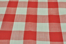Red & White Gingham Plaid Check POCKET SQUARE