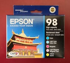 04-2012 NIB 5pk Genuine Epson 98 Color Ink_T098 T0982 -T0986_Artisan 700 710 725